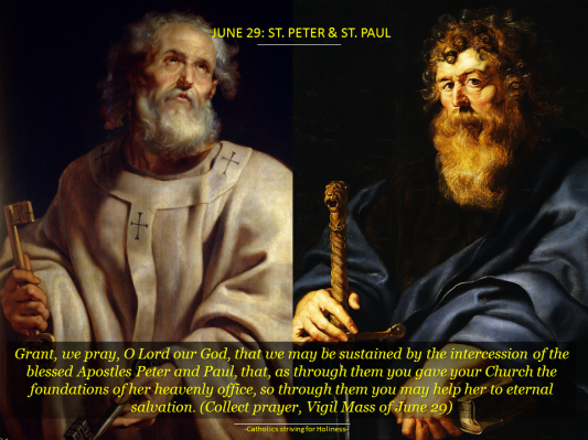 JUNE 29. ST. PETER & PAUL