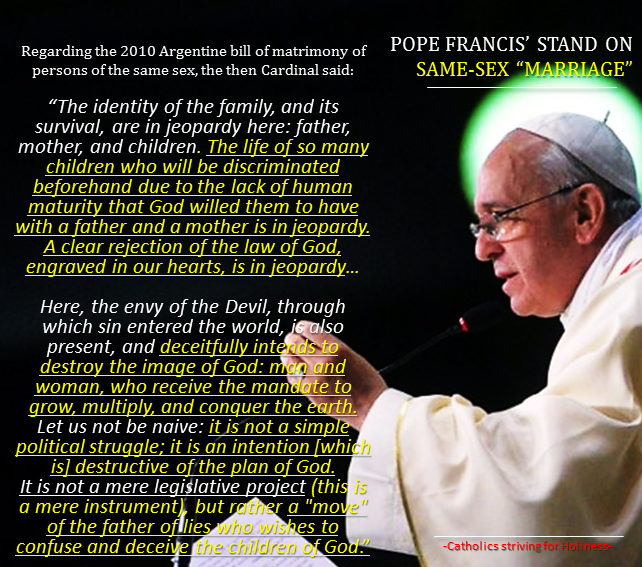 What Is Pope Francis Stand On Same Sex Marriage Must Read An