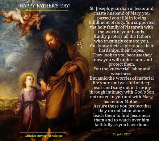 HAPPY FATHER'S DAY! Prayer to St. Joseph for All the Fathers (St ...
