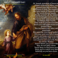 HAPPY FATHER'S DAY!  Prayer to St. Joseph for All the Fathers  (St. John XXIII).