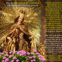 JULY 16: OUR LADY OF MT. CARMEL and  PRACTICAL TIPS ON THE DEVOTION TO HER SCAPULAR