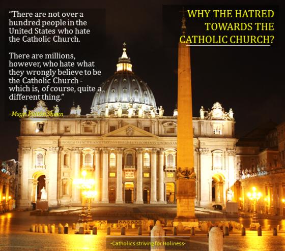 Millions hate the Catholic Church