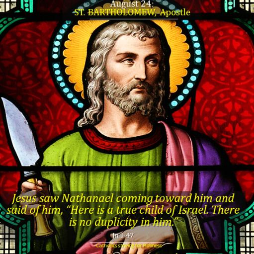 August 24. St. Bartholomew
