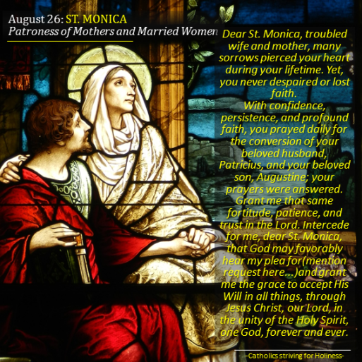 August 27. St. Monica