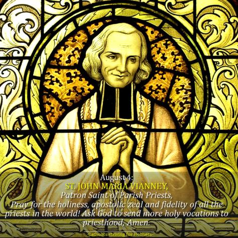 August 4-St. John Maria Vianney