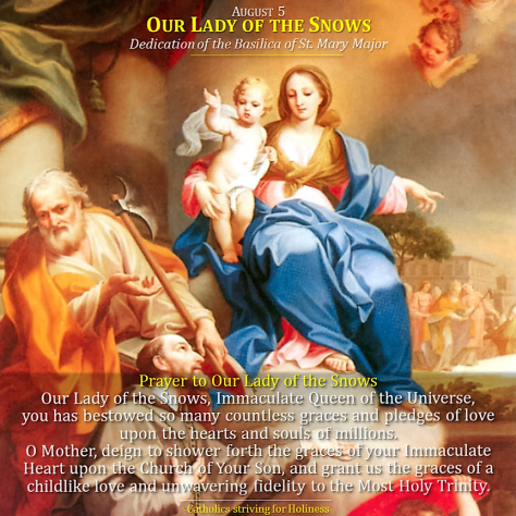 August 5-Our Lady of the Snow