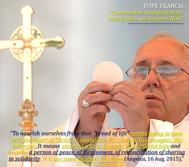 """POPE FRANCIS ON HOLY COMMUNION: """"To nourish ourselves from that"""