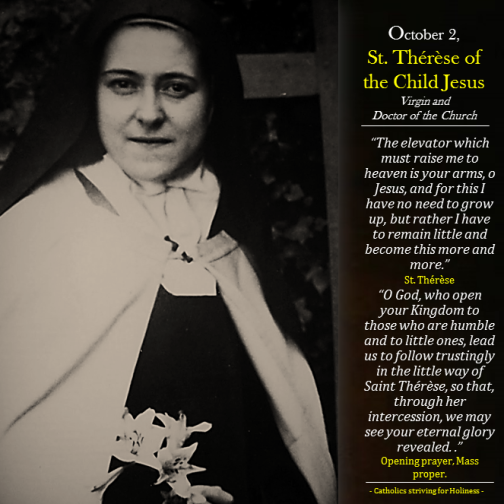 Oct. 01 - St. Therese of the Child Jesus