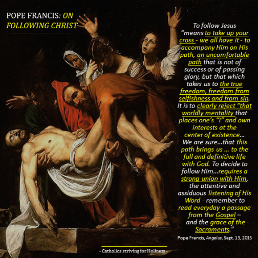 POPE FRANCIS ON FOLLOWING CHRIST