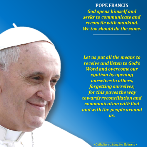 Pope Francis, restore communication