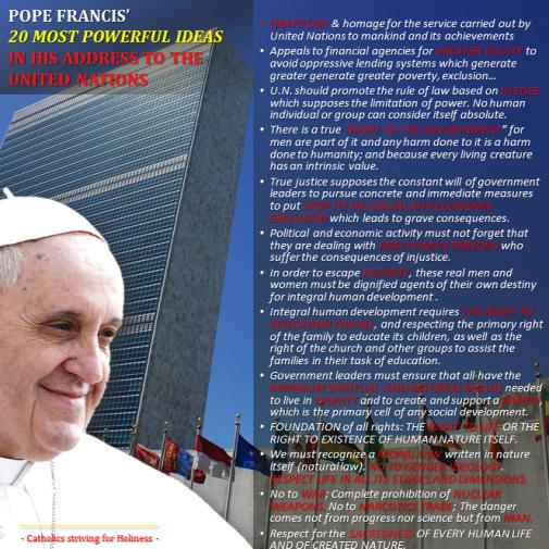 Pope in UN - 20 IDEAS