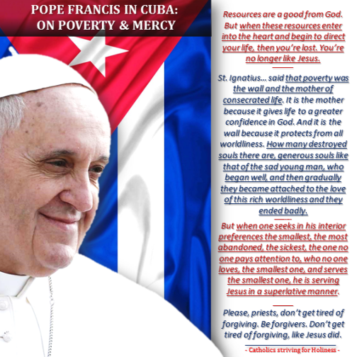 Pope to Cuban priests on poverty and detachment