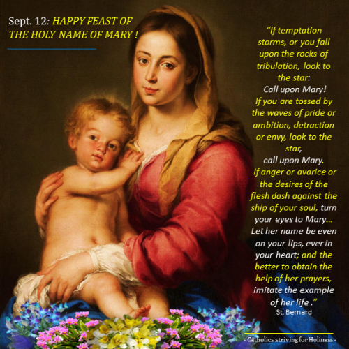 Sept. 12 - Holy Name of Mary Murillo