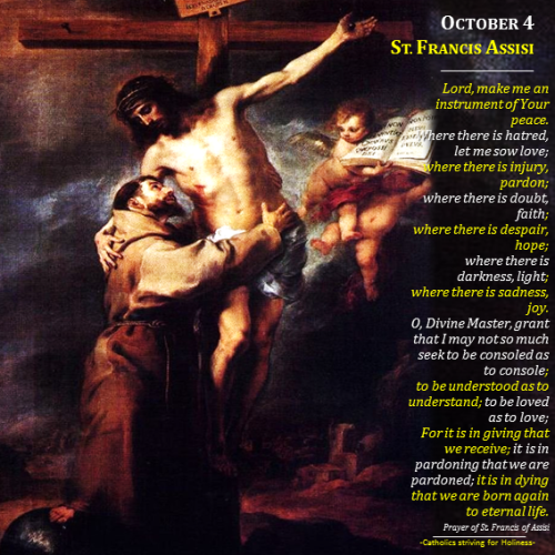 Oct. 4 - St. Francis of Assisi
