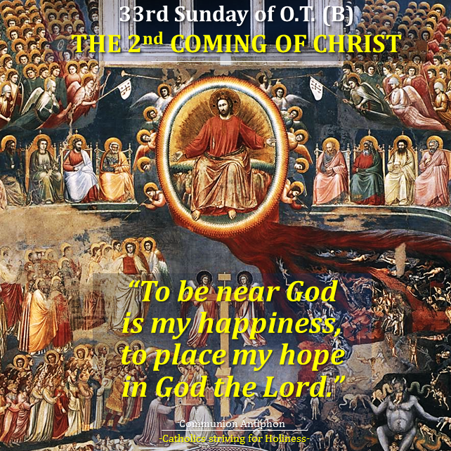 33rd Sunday O.T. B - The Glorious Coming of Our Lord Jesus Christ