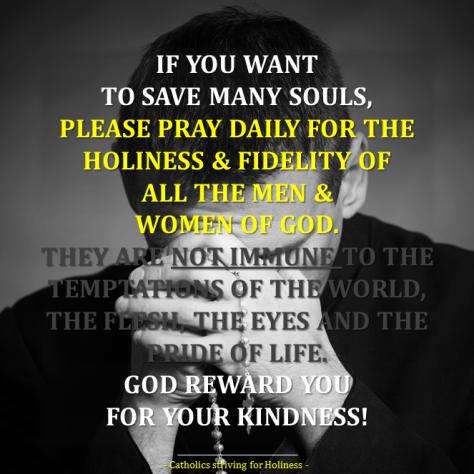 PRAY FOR THE FIDELITY OF MEN AND WOMEN OF GOD
