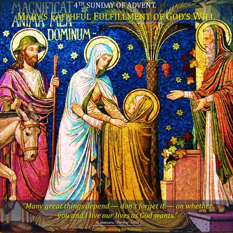 Advent 7. 4th Sunday. Mary. God's will