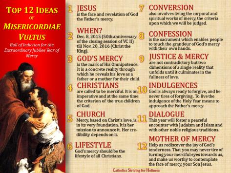 Top 12 Ideas Misericordiae vultus