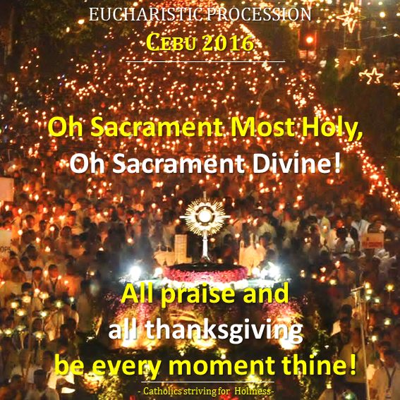 Eucharistic Procession Cebu IEC 2016