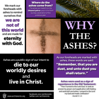 ASH WEDNESDAY: WHY THE ASHES?