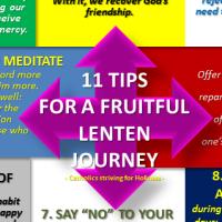 11 TIPS FOR A FRUITFUL LENTEN JOURNEY.