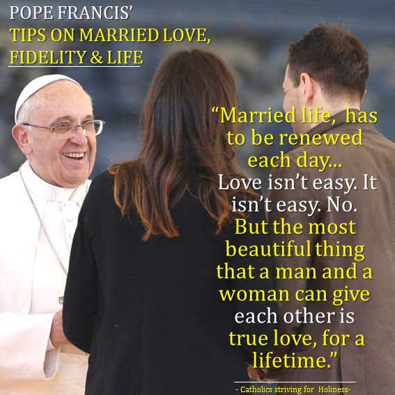 Pope Francis. Married life