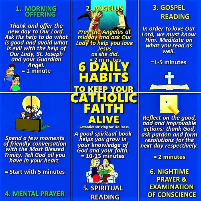 DAILY HABITS OF A CATHOLIC
