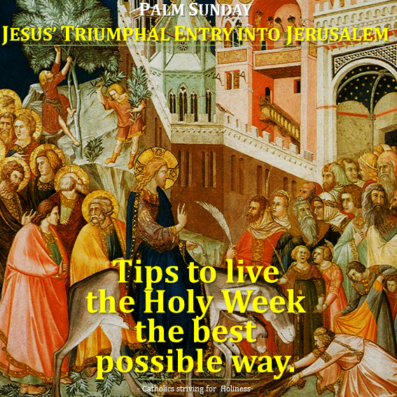 Palm Sunday - Best Possible way to live Holy Week