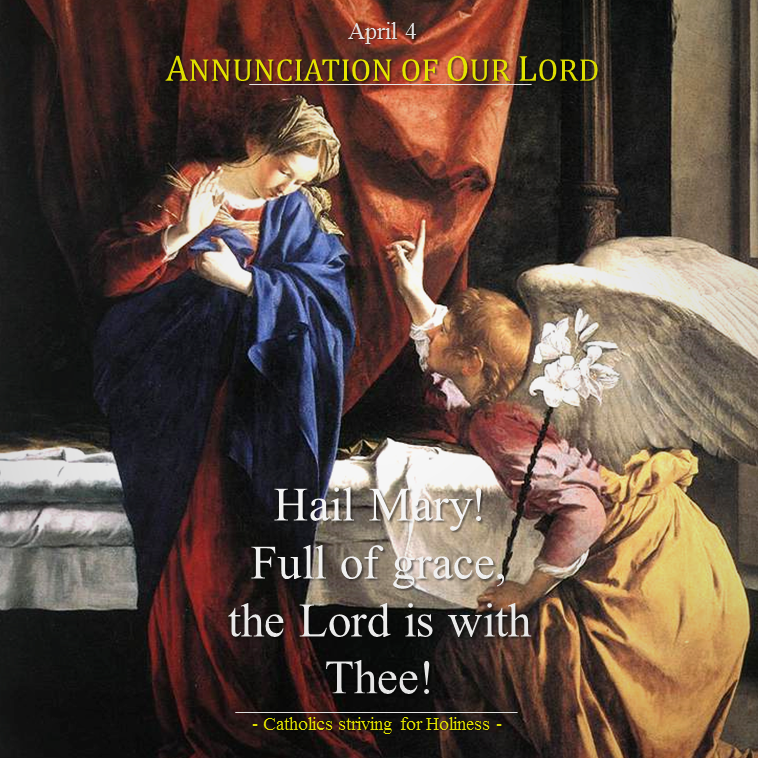 Mar 25- Annunciation of Our Lord
