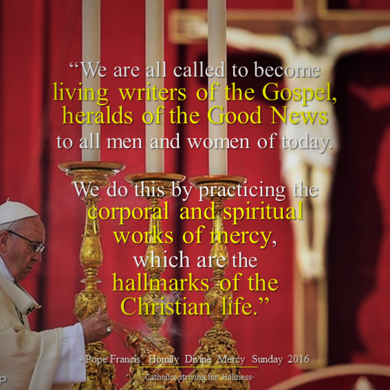 Pope FRancis. HOmily Divine Mercy Sunday 2016