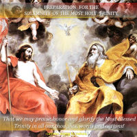 PREPARATION FOR THE SOLEMNITY OF THE MOST HOLY TRINITY. SOME HELPFUL TIPS.