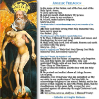 ANGELIC TRISAGION PRAYER:  PREPARATION FOR THE SOLEMNITY OF THE MOST HOLY TRINITY.