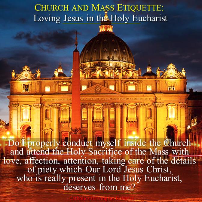 Church and Mass etiquette