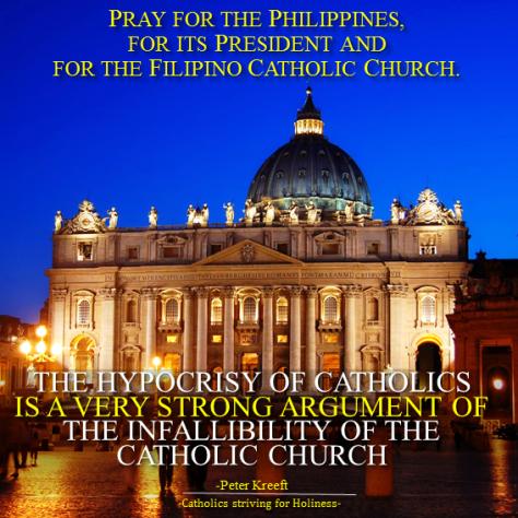 Pray for RP, Duterte. Hypocrisy. Catholic Church