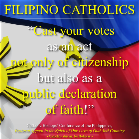 PRAY FOR THE ELECTIONS IN THE PHILIPPINES