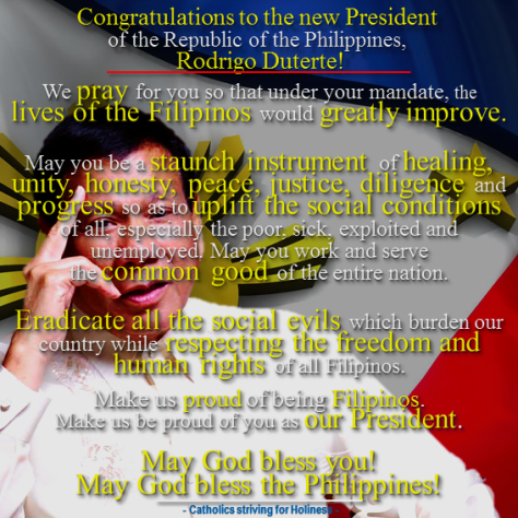 PRAYER FOR THE NEW PRESIDENT AND THE FILIPINO NATION 3