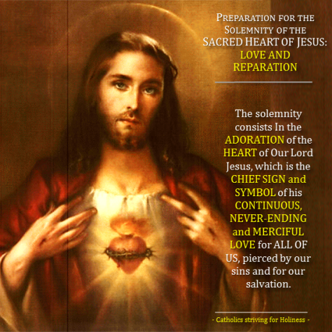 Sacred Heart of Jesus. Preparation