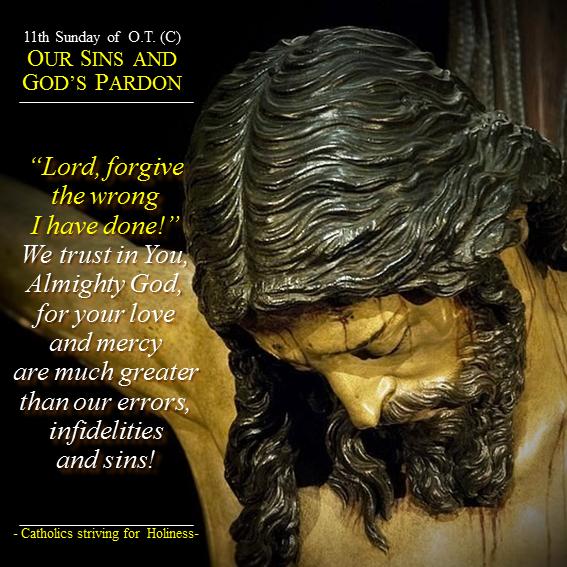 11th Sunday C - Our sins and God's pardon