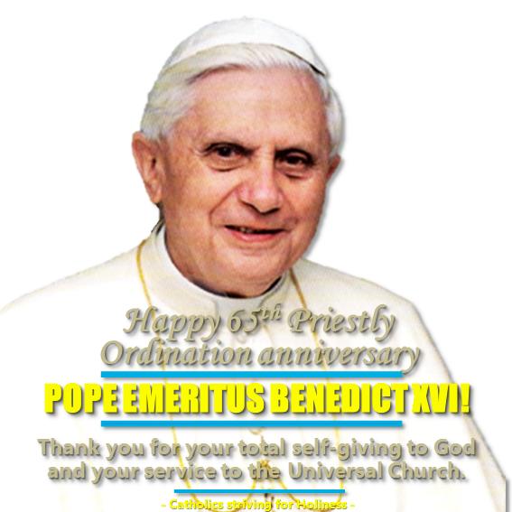 65th yr Benedcit 16 priestly ordination