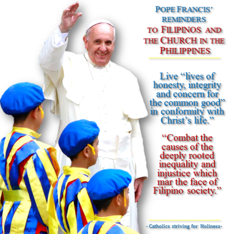 Pope to Filipinos.Daily conversion