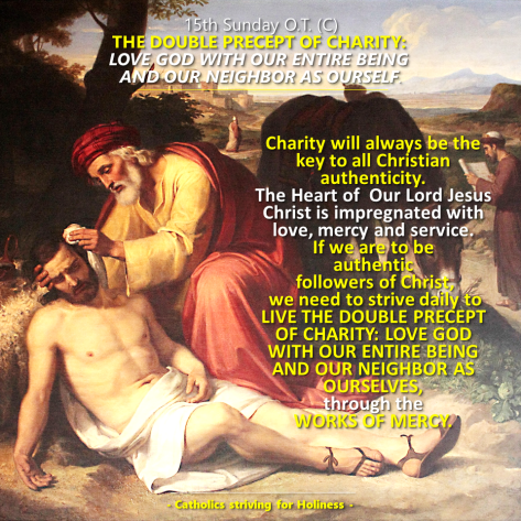 15th Sunday OT C. Double precept of Charity