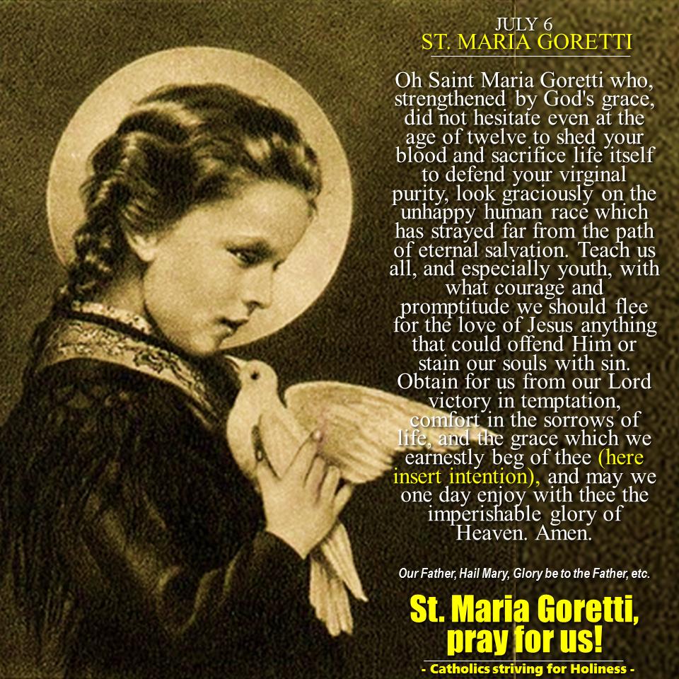 JULY 6: ST. MARIA GORETTI. PATRON - 1746.4KB