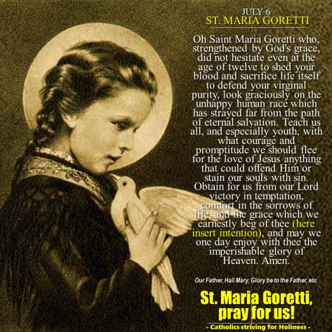 JULY 6: ST. MARIA GORETTI. PATRON - 440.3KB