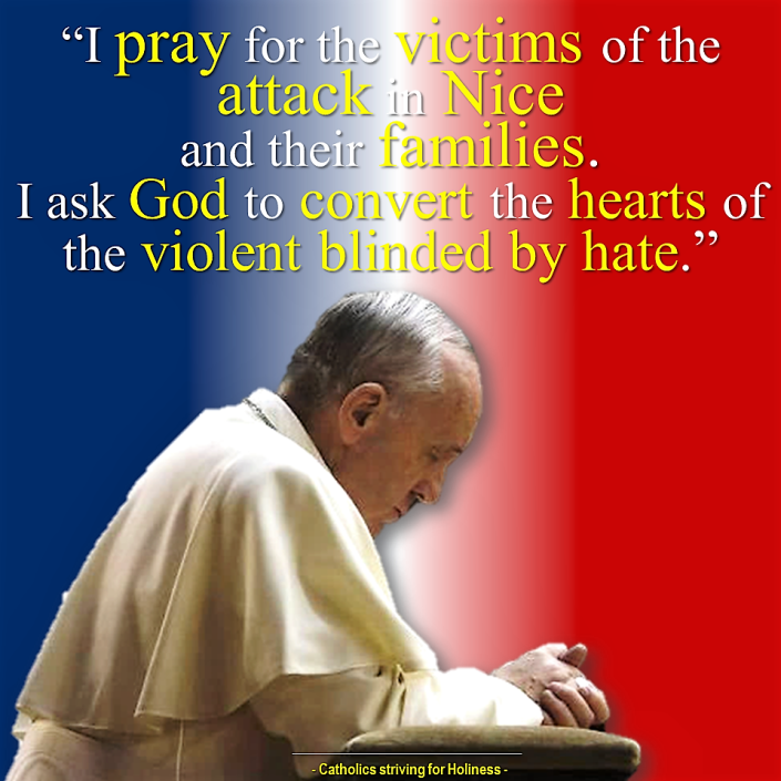POPE FRANCIS ON ATTACK in Nice
