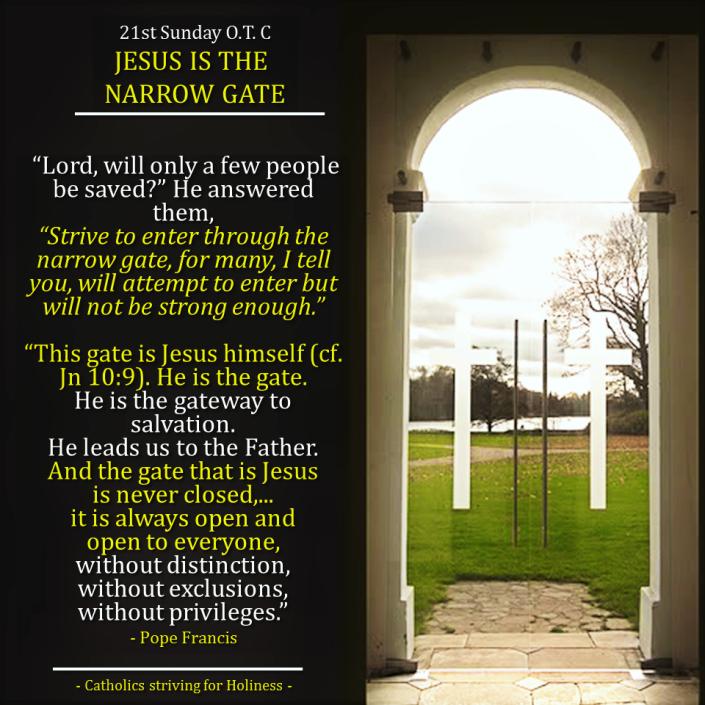 21 Sunday OT C. Salvation. Narrow gate.2