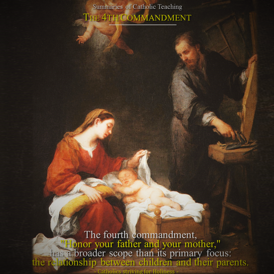 Summaries Of Catholic Teaching Topic 33: The 4thmandment Honor  Your Father And