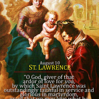 August 10: ST. LAWRENCE, DEACON, AND MARTYR.  Patron Saint of Cooks, Chefs and Comedians. Short bio.