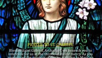 PRAYERS TO ST  MICHAEL, ST  GABRIEL, AND ST  RAPHAEL  – Catholics