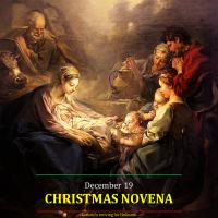 CHRISTMAS NOVENA 3 Dec. 19: God's Redeeming Incarnation.  AV summary (0:53 s) & text.