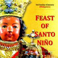 SANTO NIÑO SUNDAY:  HAPPY FEAST DAY OF SANTO NIÑO! AV greeting & text.